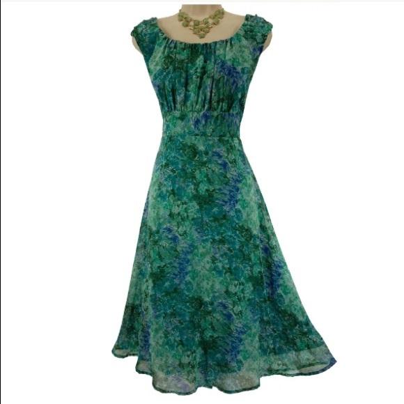 307d22a4812 Dress Barn Dresses   Skirts - 20W 2X▫️WATERCOLOR FLORAL CHIFFON DRESS Plus  Size